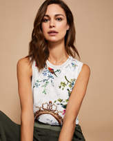 Ted Baker Opulent Fauna woven front tank top