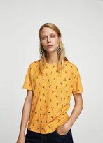 MANGO Printed cotton t-shirt