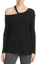 LnA Torn Shoulder Long Sleeve Top