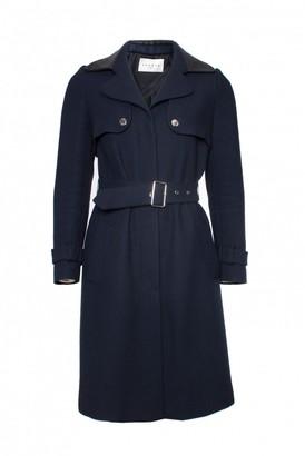Sandro Navy Cotton Trench Coat for Women