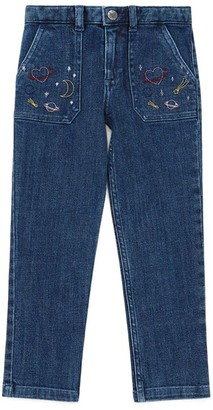 Bonton Embroidered-Detail Jeans (4-12 Years)