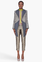 Matthew Williamson Grey Tweed Panel Coat