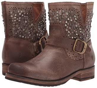 Frye Veronica Deco Bootie (Chocolate) Women's Boots