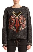 Etro Tweed Applique Top