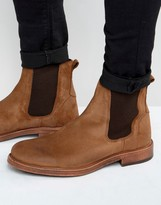 Asos Chelsea Boots In Tan Leather