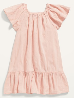 Old Navy Flutter-Sleeve Tiered Swing Dress for Toddler Girls
