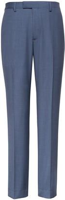 Banana Republic Slim Blue Italian Wool Suit Pant