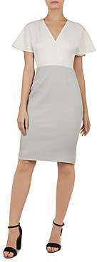 Ted Baker Working Title Reemadd Color-Block Dress