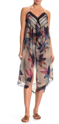 Pool' Pool To Party Floral Print Halter Cover-Up