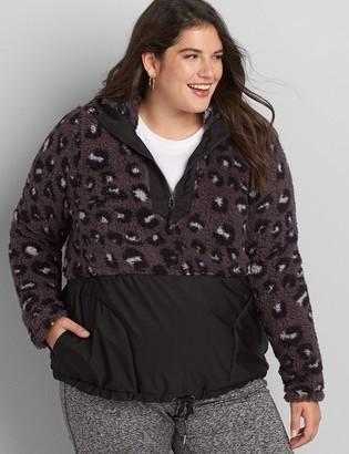 Lane Bryant LIVI Sherpa Half-Zip Pullover