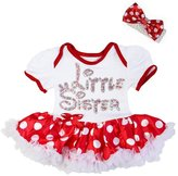 Kirei Sui Baby Polka Dots Rhinestone Little Sister Bodysuit Tutu Romper