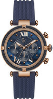 Gc Y16005L7 Cablechic stainless steel and silicone chronograph watch