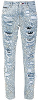 Philipp Plein embellished slim-fit jeans