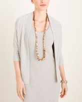 Barefoot Dreams CozyChic Lite Cable Knit Shrug Cardigan