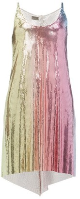 Paco Rabanne Ombre-chainmail Dress - Multi
