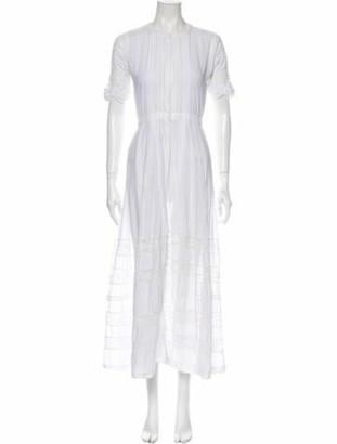 LoveShackFancy Crew Neck Long Dress White