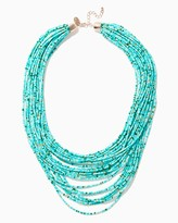 Charming charlie Neptuna Beaded Swag Necklace