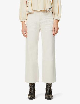 BA&SH Hanna wide-leg high-rise stretch-denim jeans