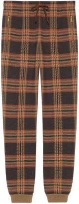 Gucci Check wool jogging pants