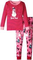Hatley Snow Tired Pajama Set (Toddler/Kid) - Pink - 5