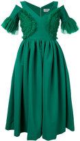 Preen by Thornton Bregazzi cut-out detail flared dress - women - Polyamide/Spandex/Elastane/Acetate - S