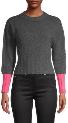 Brodie Cashmere Claudia Contrasting-Cuff Cashmere Sweater