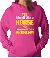 TeeStars - Smell Like a Horse Funny Gift for Horse Lover Riding Women Hoodie