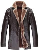 Veste en faux cuir homme