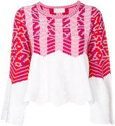 Peter Pilotto zig-zag instarsia sweater - women - Cotton/Polyamide/Viscose/Wool - S