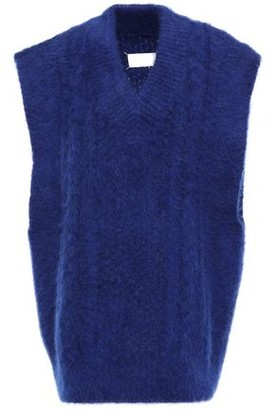 Maison Margiela Oversized Brushed Cable-knit Vest