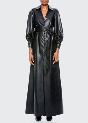 Alice + Olivia Zarita Vegan Leather Maxi Dress