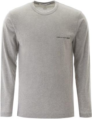 Comme des Garçons Shirt Logo Print Long-sleeved T-shirt