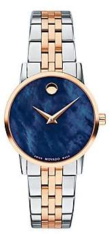 Movado Women's Classic Rose Gold & Stainless Steel Bracelet Watch