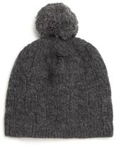 Portolano Cable-Knit Pom-Pom Beanie