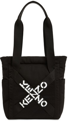 Kenzo Logo Nylon Tote Bag