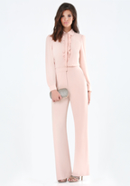 Bebe Ruffle Front Jumpsuit