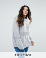 Asos Oversized Sweater with Rib Detail