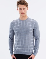 Tommy Hilfiger Windowpane Crew Neck Jumper