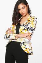 boohoo Harriet Floral Blazer black