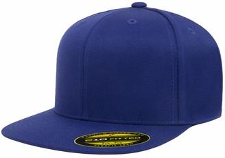 Flexfit Flex fit Men's 210 Fitted Flat Bill Cap Hat