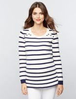 A Pea in the Pod Button Detail Maternity Sweater