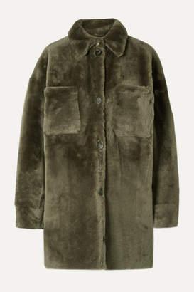 Utzon Reversible Shearling Coat - Army green