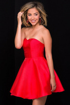 Jovani Semi-Sweetheart Taffeta Dress JVN47317