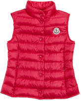 Moncler Liane Long Season Packable Vest, Fuchsia, Sizes 8-10