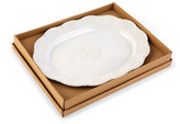 Mud Pie Initial Oval Platter - S