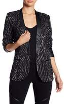 Tart Parker Faux Leather Shawl Lapel Blazer