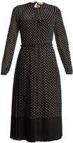 No.21 NO. 21 Polka-dot print silk-chiffon dress