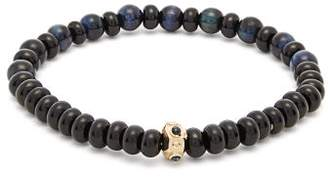 Luis Morais Sapphire, Onyx And Tiger's Eye Beaded Bracelet - Mens - Black Blue
