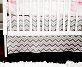 New Arrivals Inc. New Arrivals Peace, Love, Pink 2 Piece Crib Bedding Set, Grey