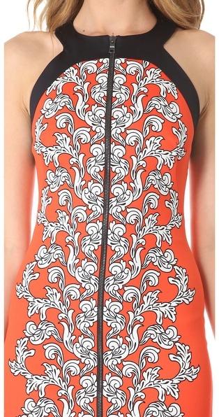 Robert Rodriguez Medallion Scroll Print Dress